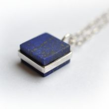 Handmade silver and lapis necklace by Afghan artisans