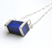 Handmade lapis and silver necklace by Afghan artisans