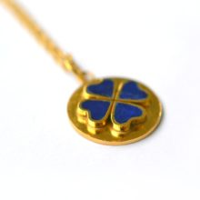 handmade gold plated and lapis necklace made by Afghan artisans