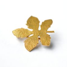 handmade broach gold plated by afghan artisans