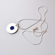 silver lapis pendant necklace afghanistan jewellery