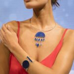 afghan jewellery, lapis choker, lapis necklace, silver choker, silver necklace, handmade, ethically made